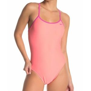 Nike   Crossback one piece bathing suit   Pink NEW